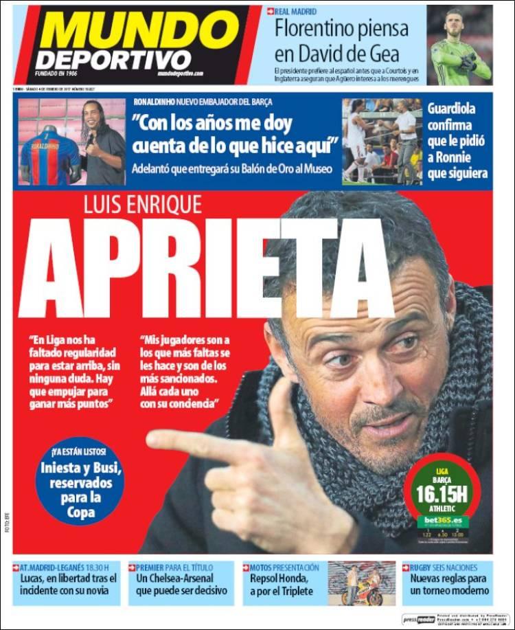 Mundo Deportivo Portada 04.02.17