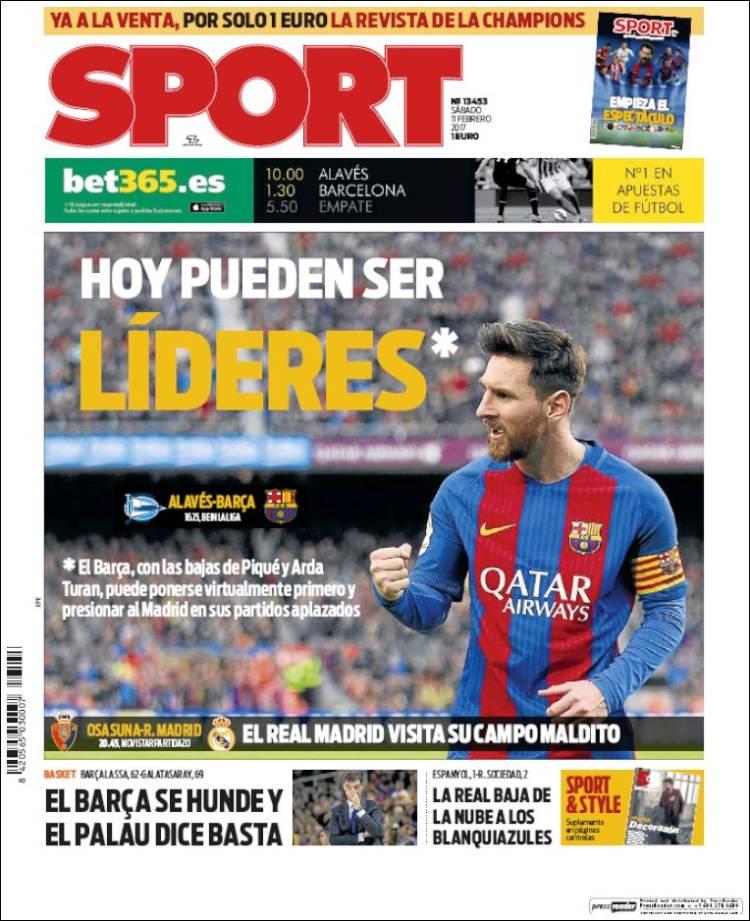 Sport Portada Líderes 11.02.17