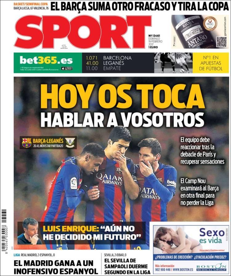 Sport Portada Tridente 19.02.17