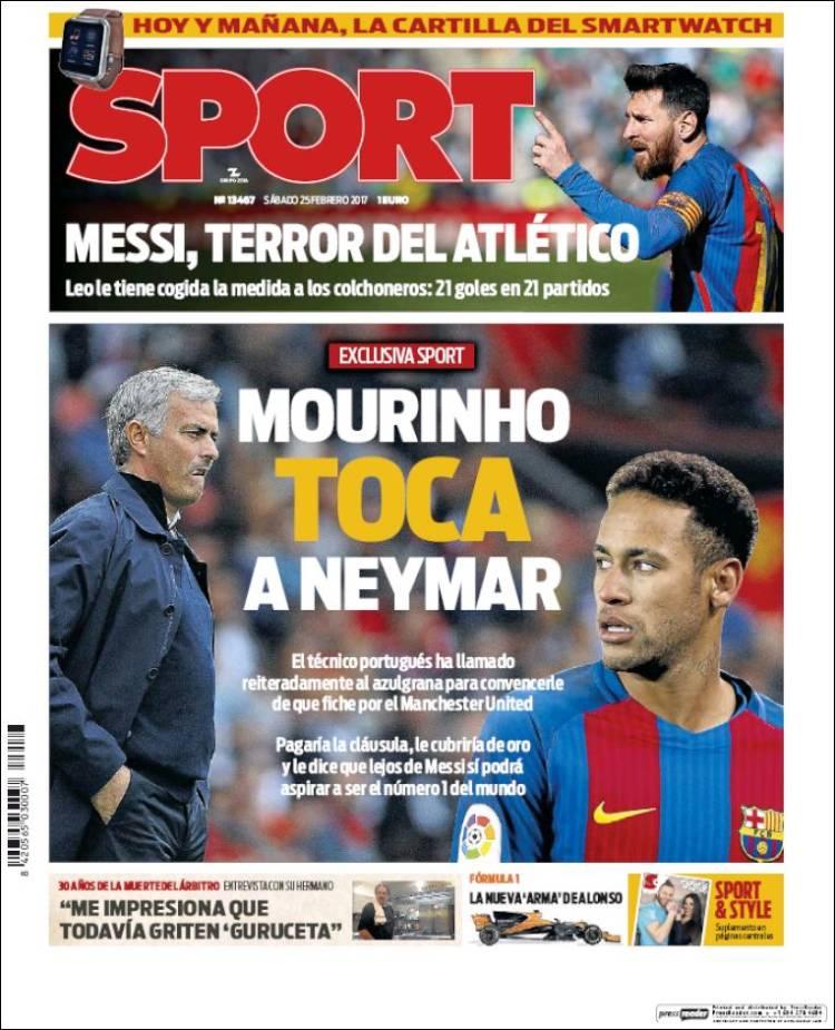 Sport Portada Mourinho 25.02.17