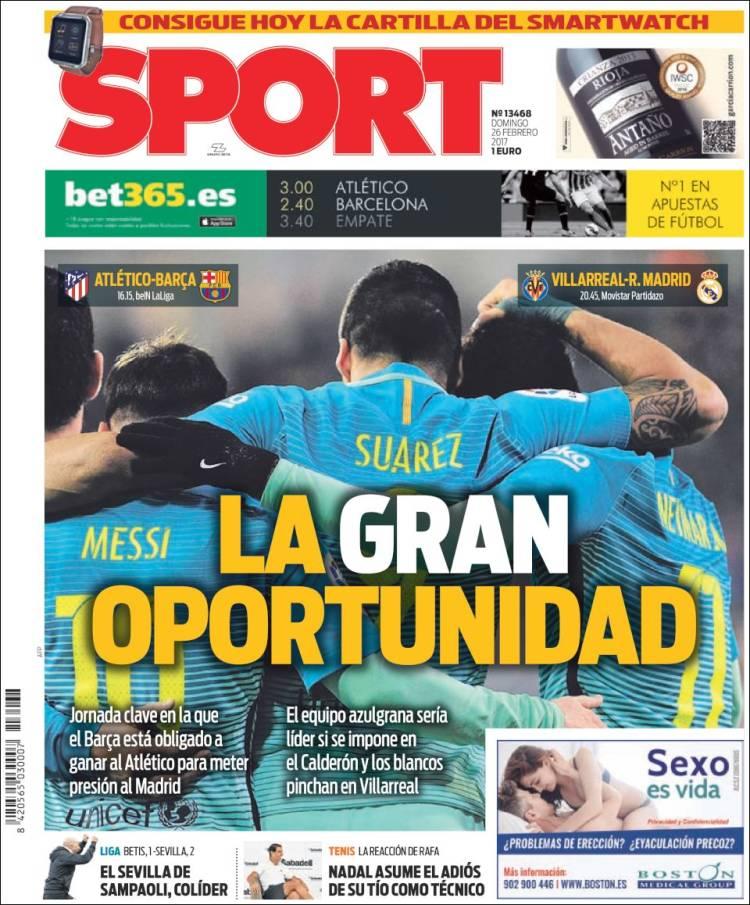 Sport Portada Oportunidad 26.02.17
