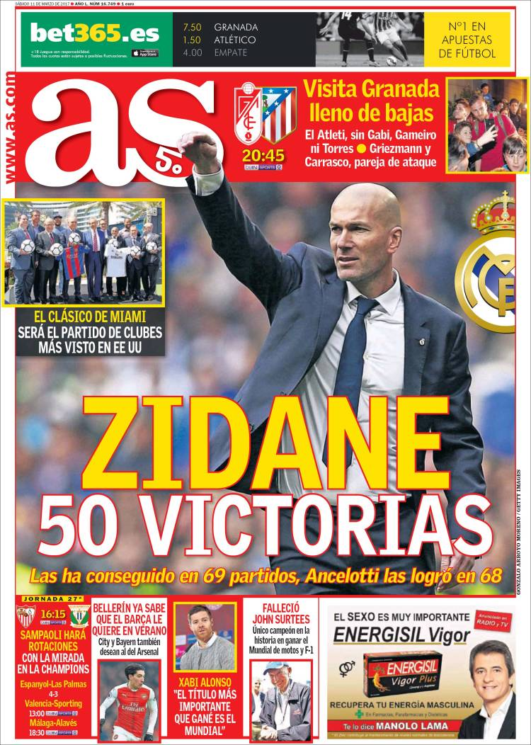 As Portada Zidane 11.03.17