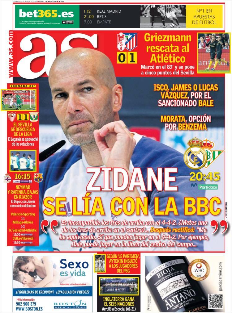 As Portada Zidane Lío 12.03.17