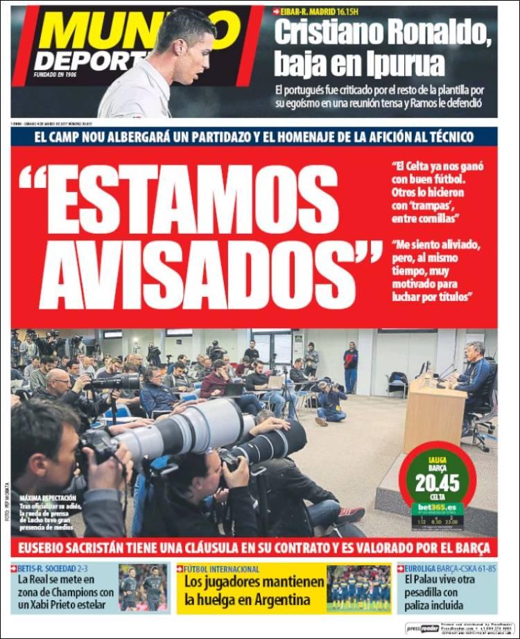 Mundo Deportivo Portada 04.03.17