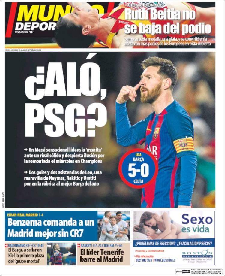 Mundo Deportivo Portada 05.03.17
