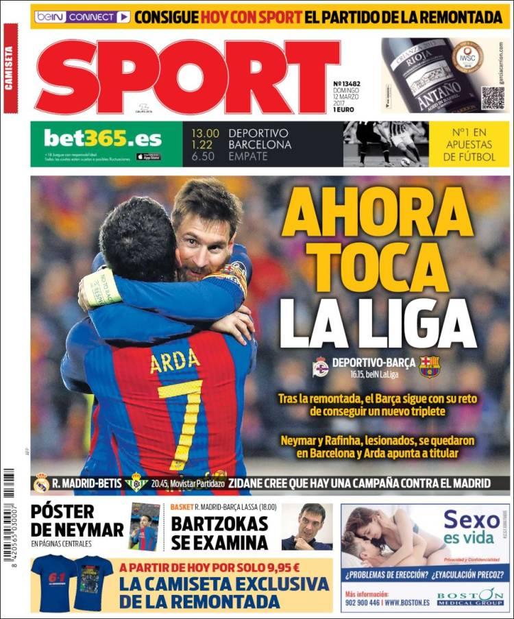 Sport Portada Liga 12.03.17