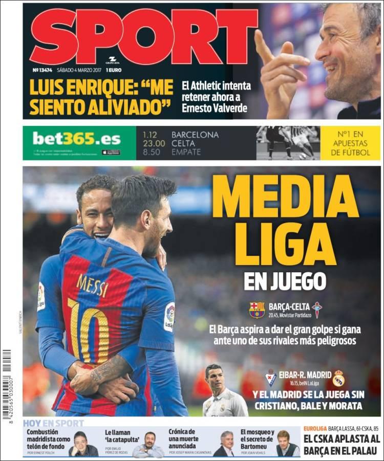 Sport Portada Media Liga 04.03.17