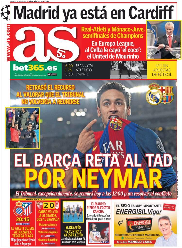 As Portada Neymar 22.04.17