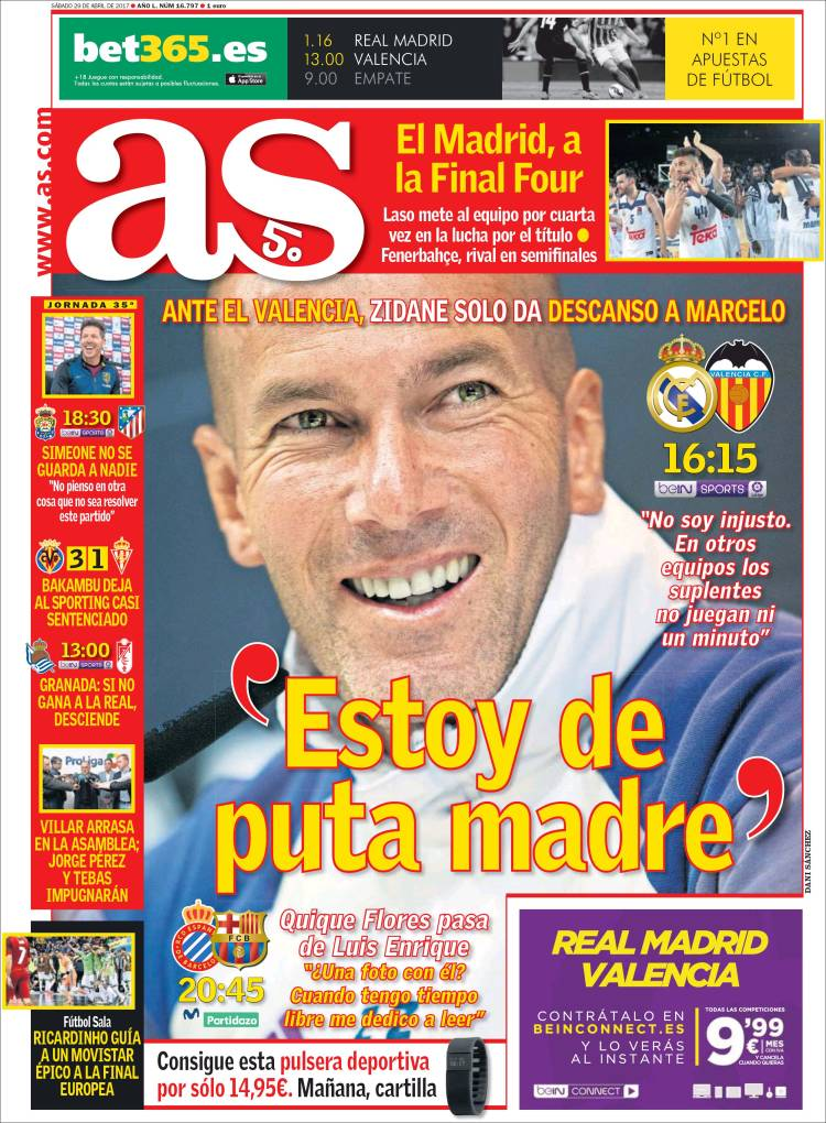 As Portada Zidane 29.04.17