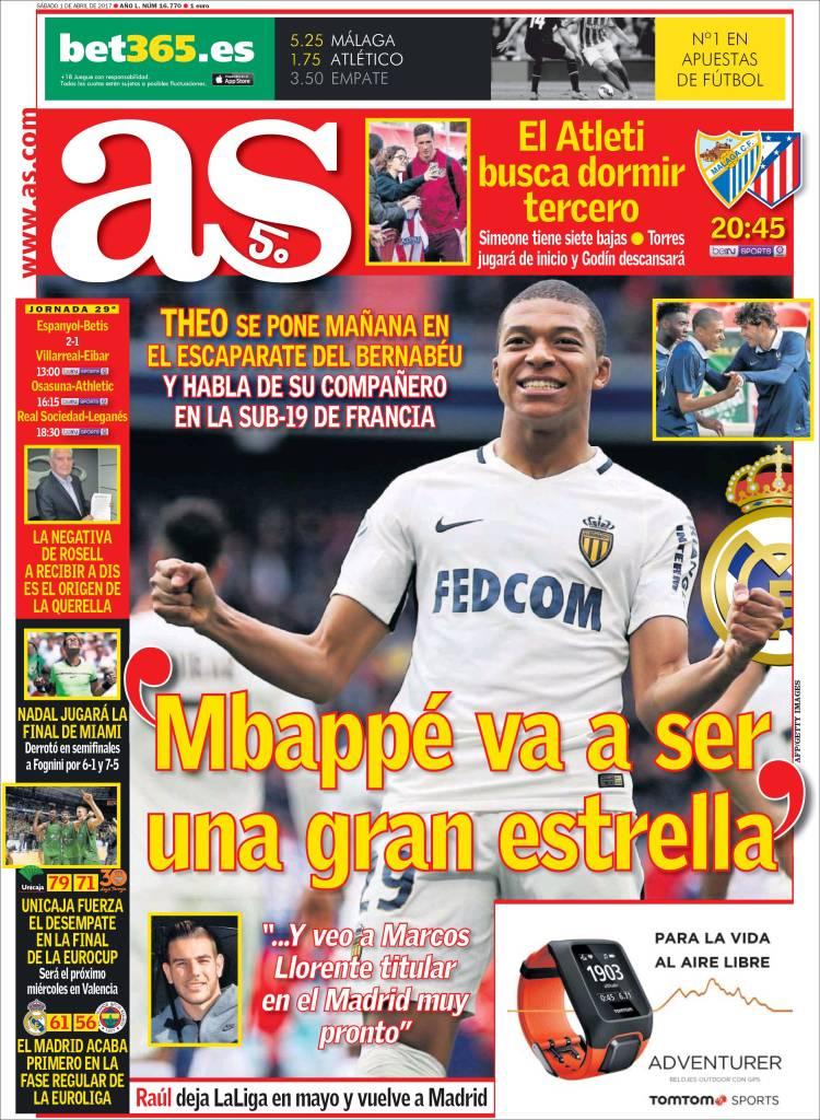As Portada Mbappé 01.04.17