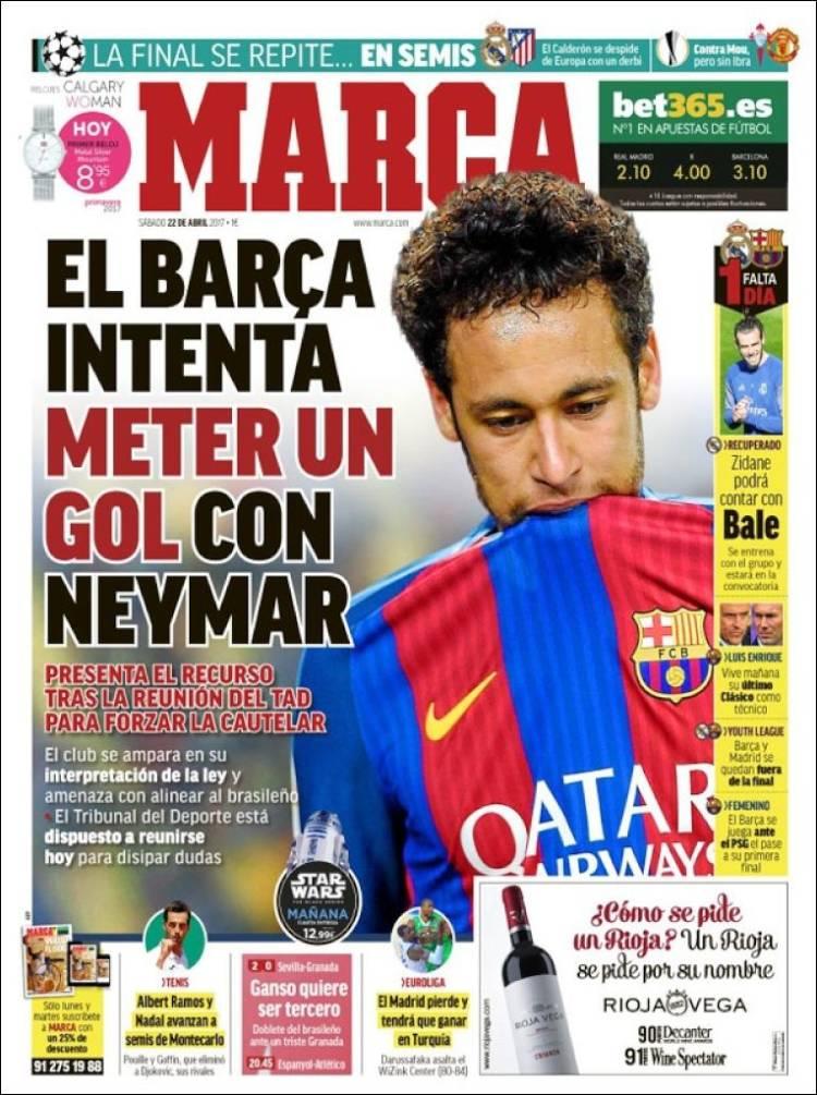 Marca Portada Neymar 22.04.17