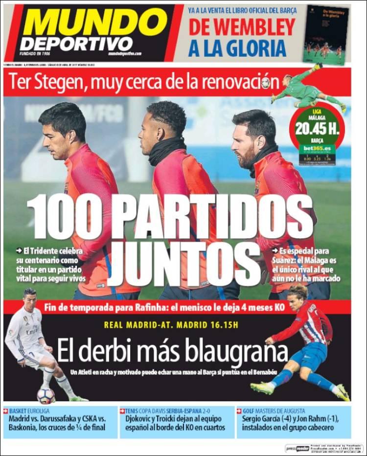 Mundo Deportivo Portada Derbi 08.04.17