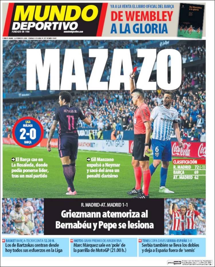 Mundo Deportivo Portada Mazazo 09.04.17