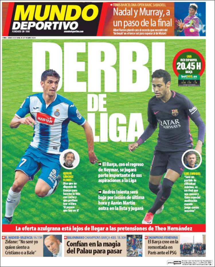 Mundo Deportivo Derbi 29.04.17