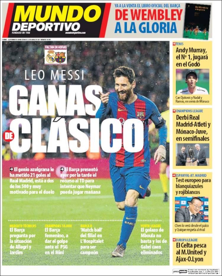 Mundo Deportivo Messi 22.04.17