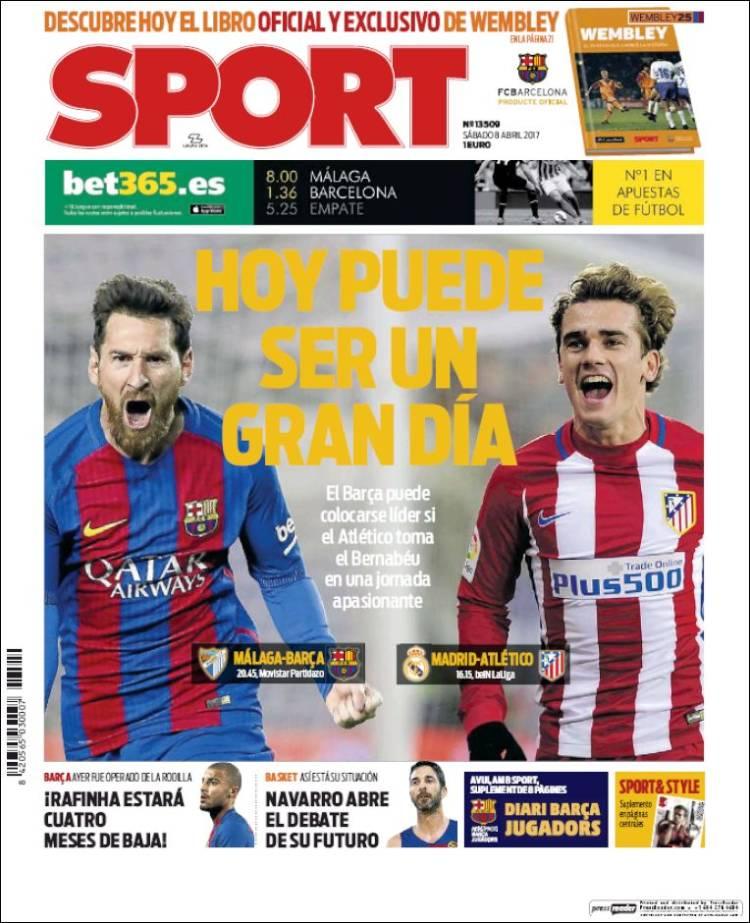 Sport Portada Gran día 08.04.17
