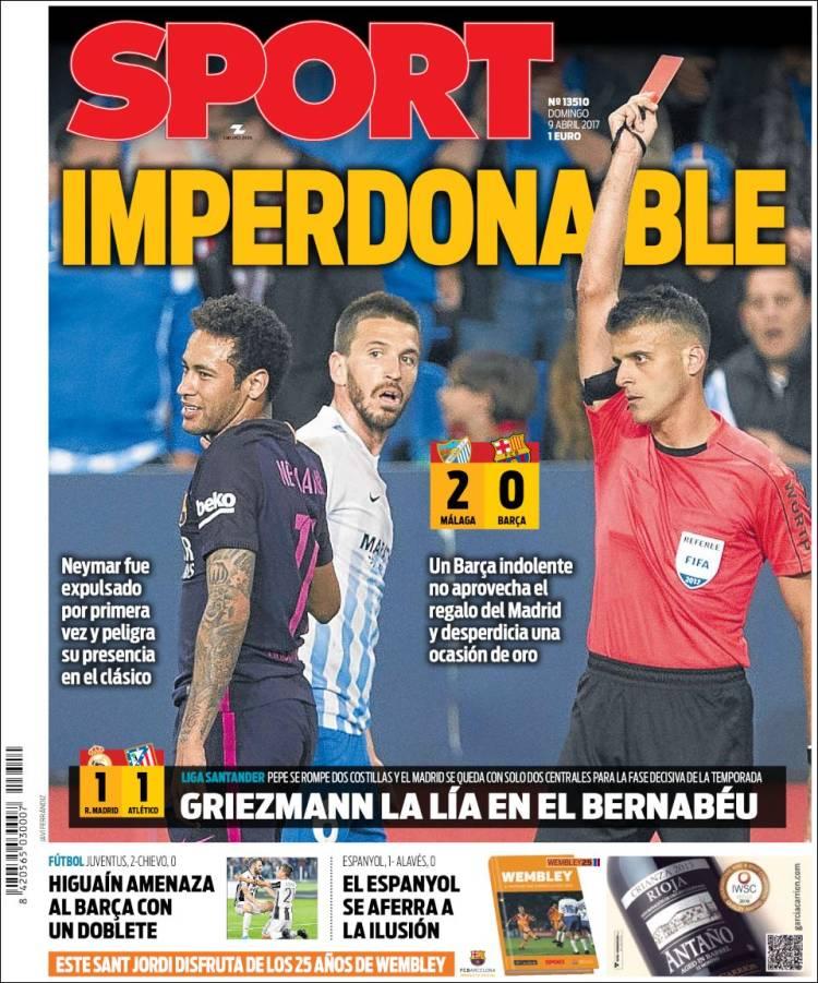 Sport Portada Imperdonable 09.04.17