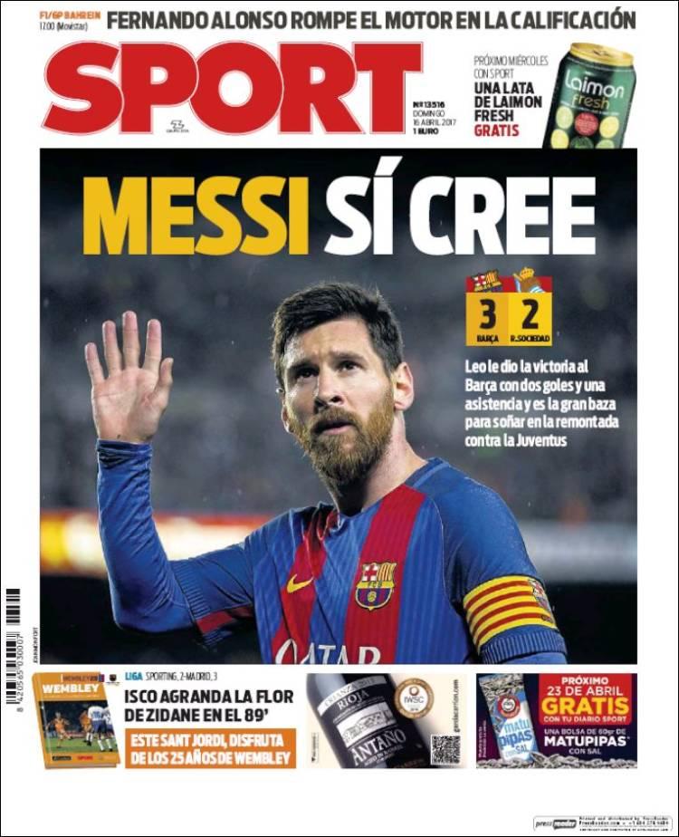 Sport Portada Messi 16.04.17