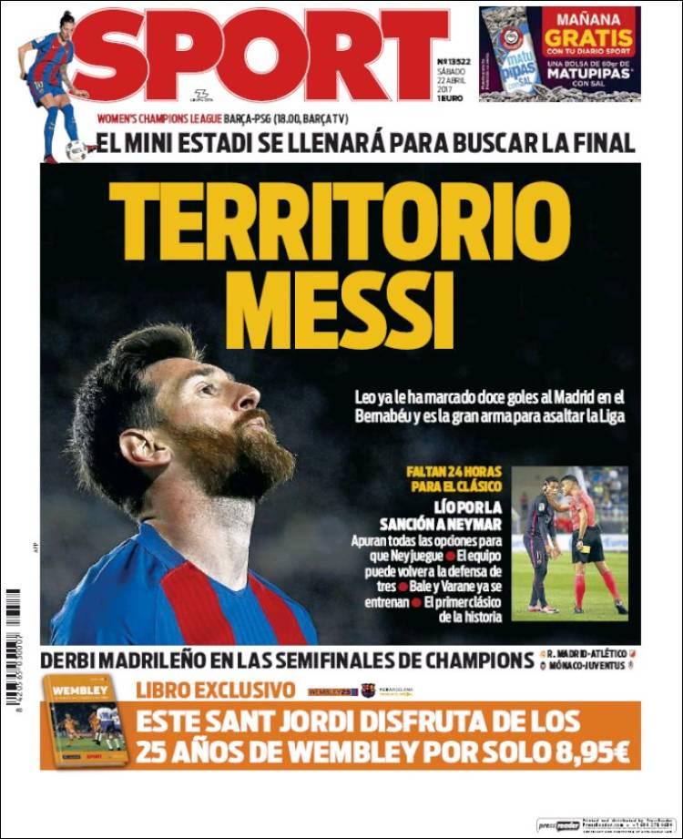 Sport Portada Messi 22.04.17