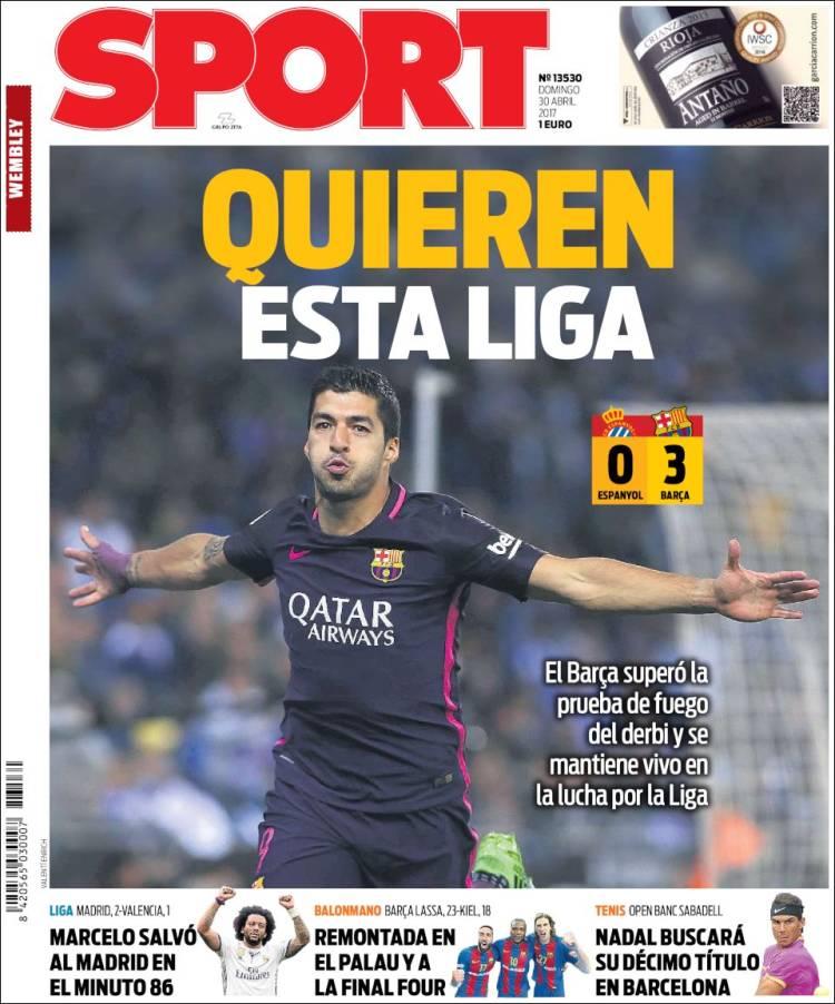 Sport Portada Liga 30.04.17