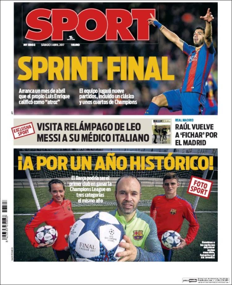 Sport Portada Sprint final 01.04.17