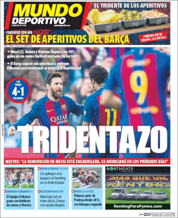 Mundo Deportivo Portada Tridentazo 07.05.17