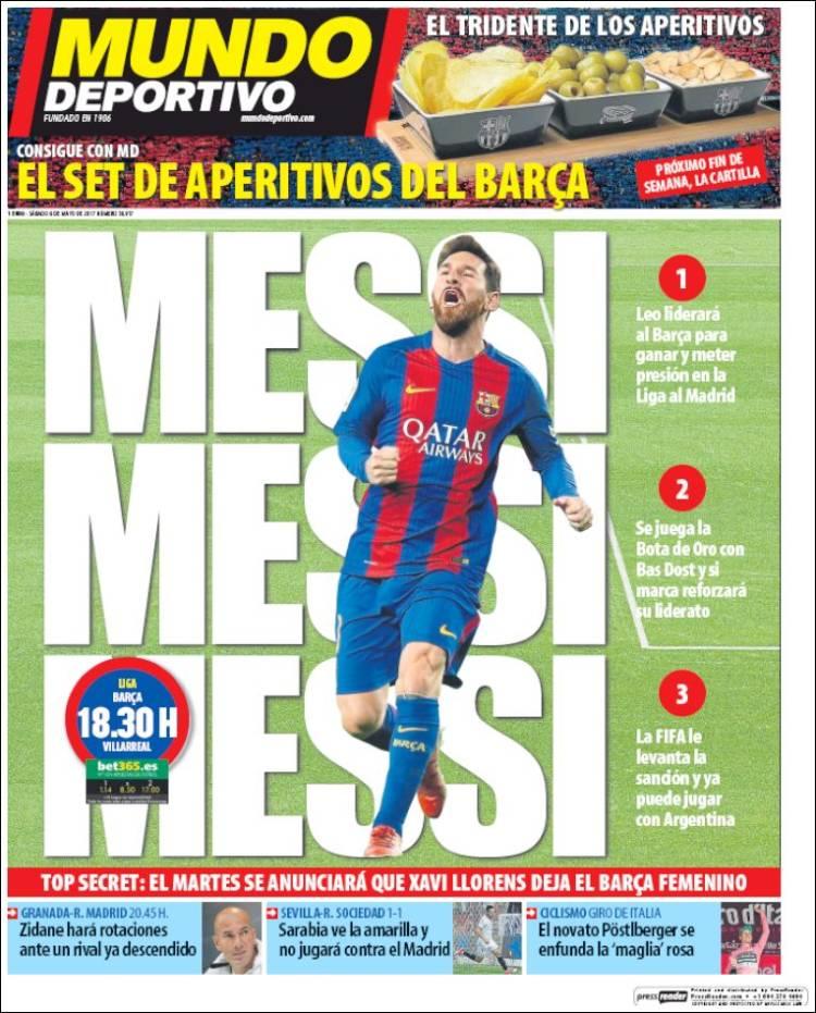 Mundo Deportivo Messi 06.05.17