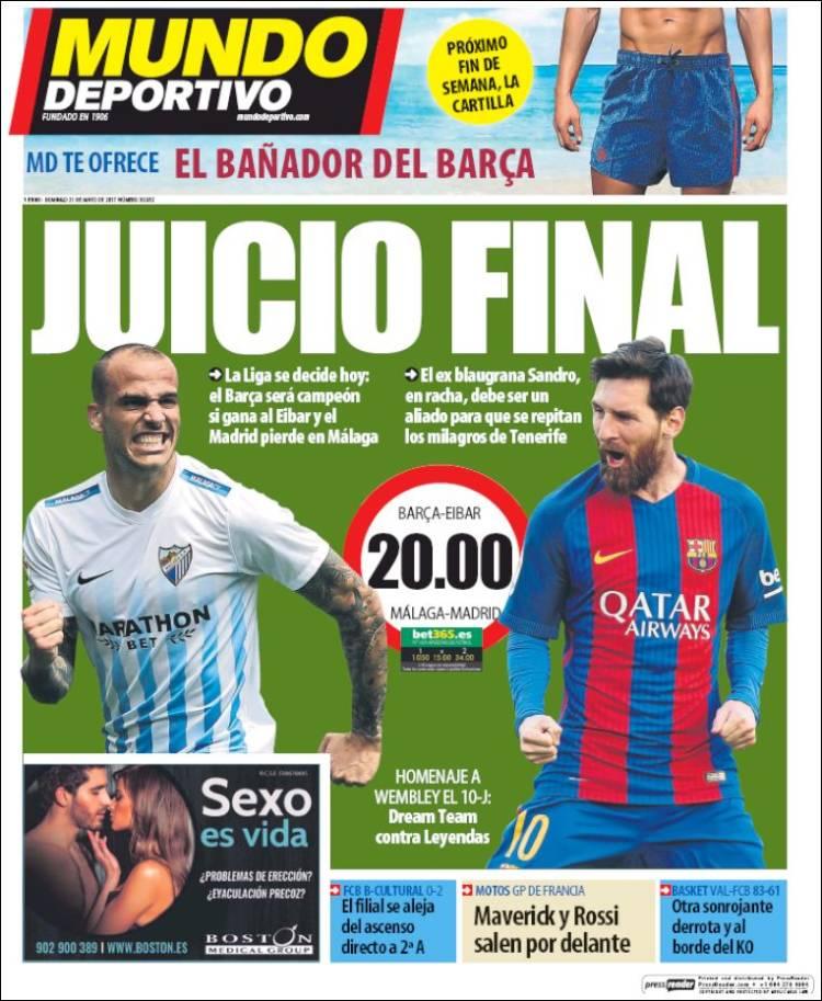 Mundo Deportivo Portada Juicio final 21.05.17