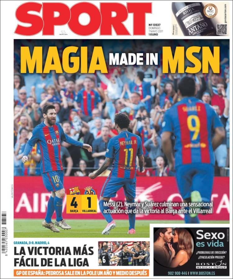 Sport Portada Magia 07.05.17