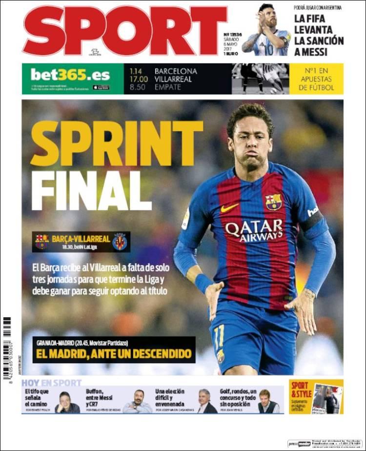 Sport Portada Sprint 06.05.17