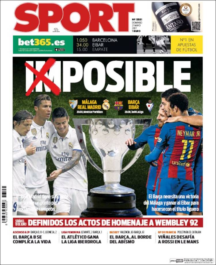 Sport Portada Imposible 21.05.17