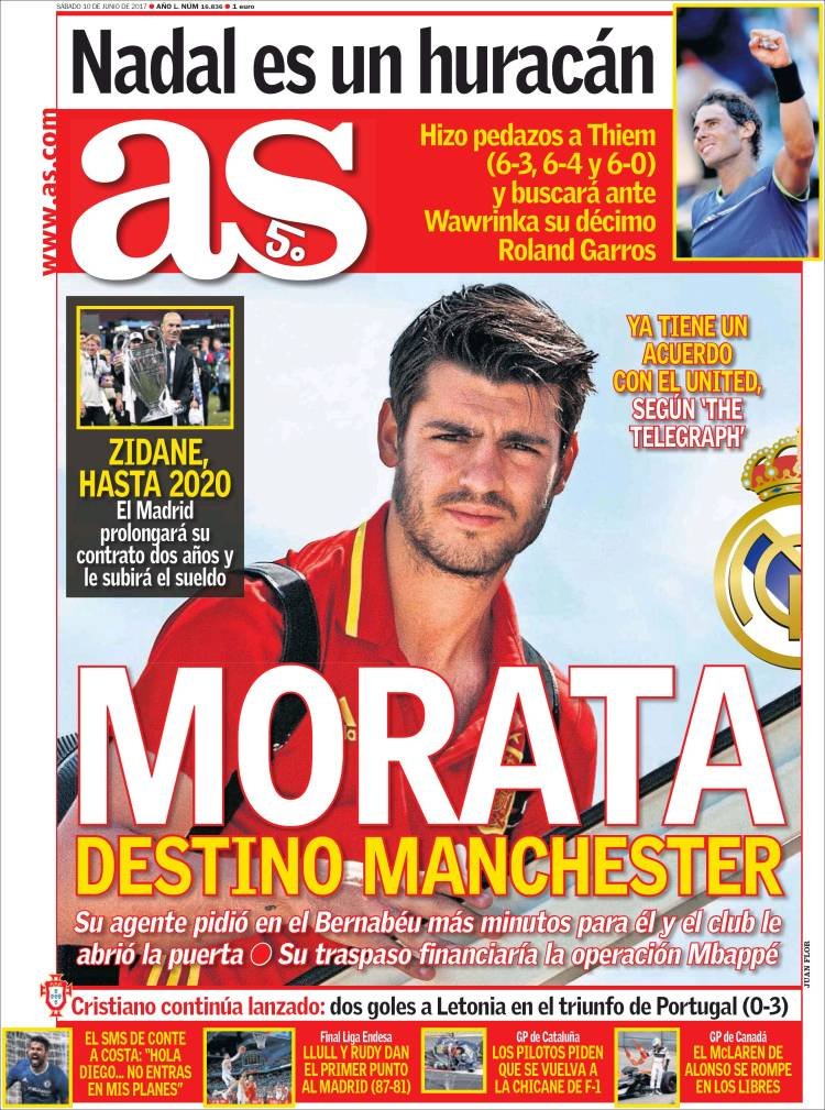 As Portada Morata 10.06.17