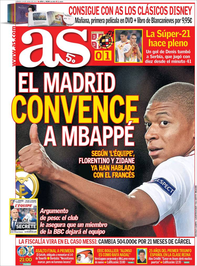 As Portada Mbappé 24.06.17
