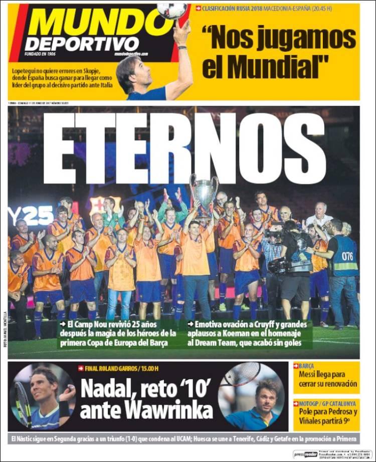 Mundo Deportivo Portada Eternos 11.06.17