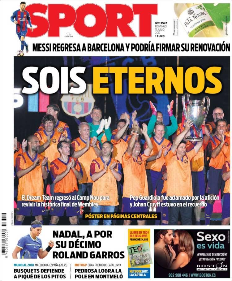 Sport Portada Eternos 11.06.17