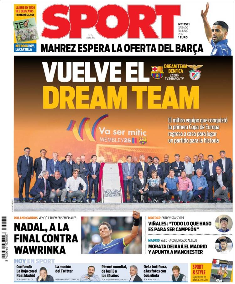 Sport Portada Dream Team 10.06.17