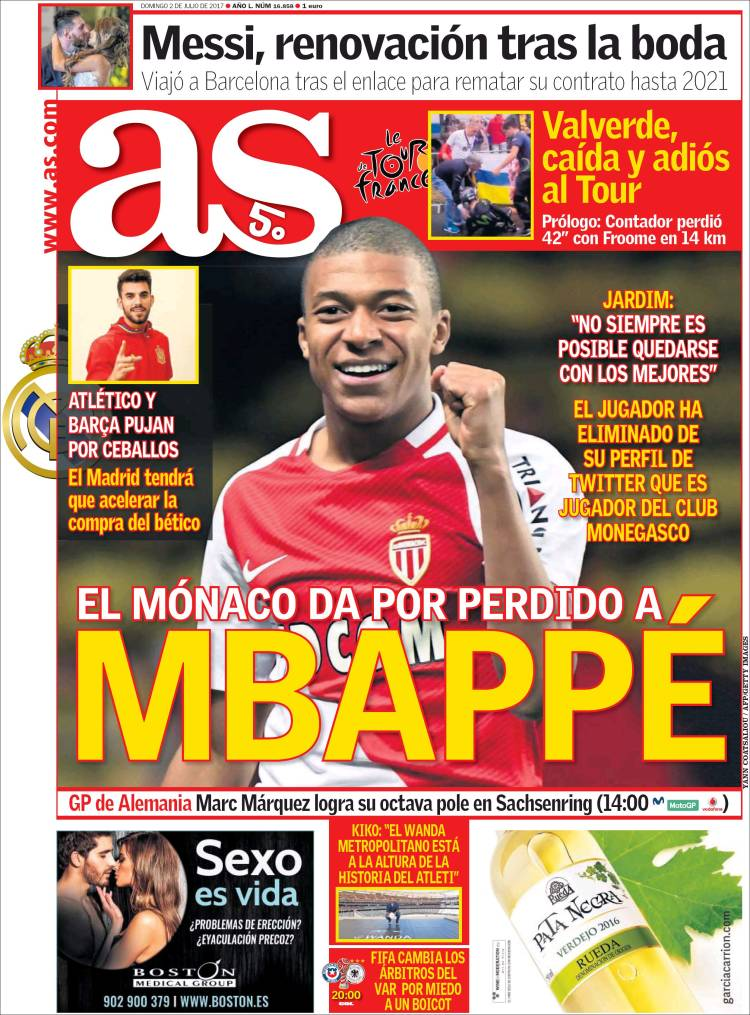 As Portada Mbappé 02.07.17