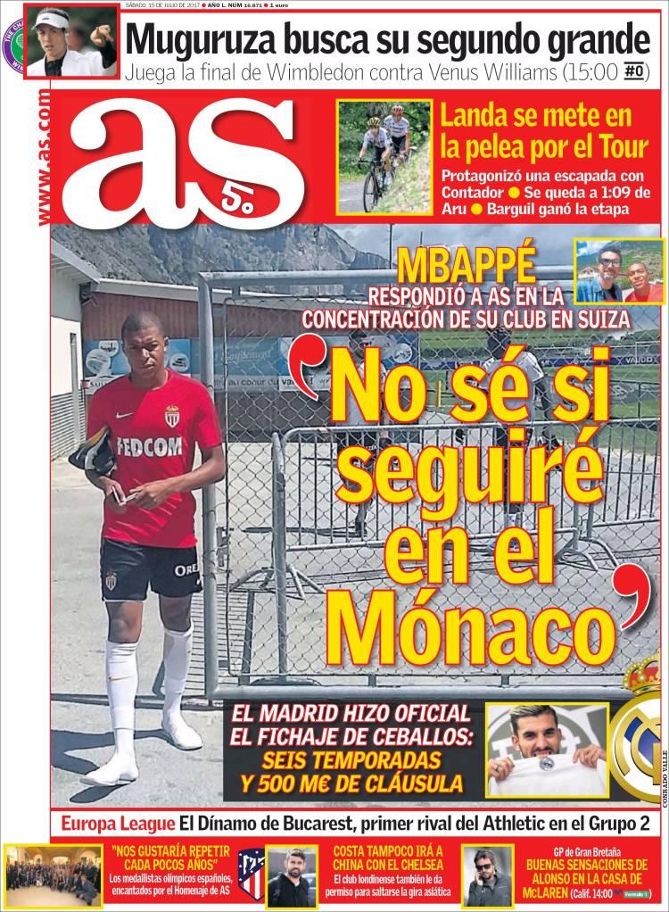 As Portada Mbappé 15.07.17