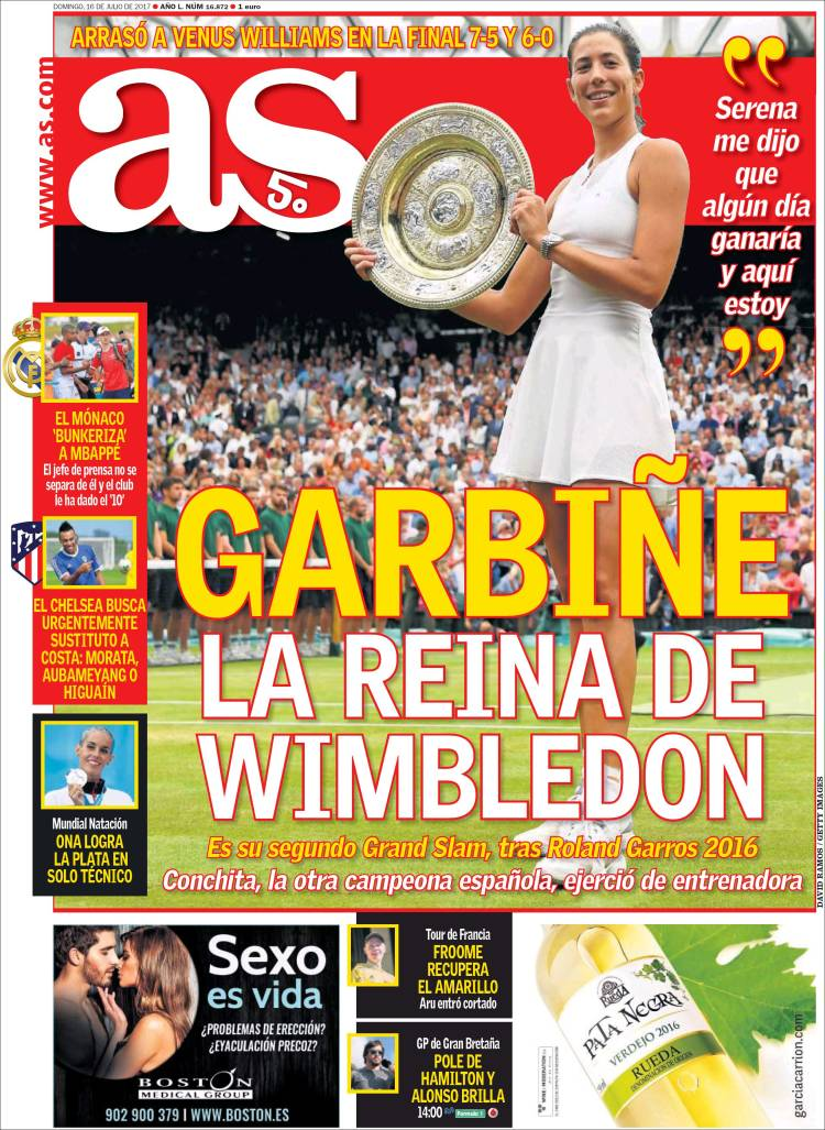 As Portada Garbiñe 16.07.17