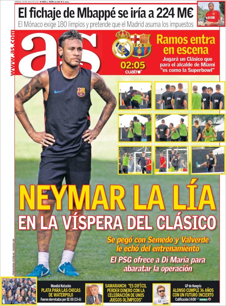 As Portada Neymar 29.07.17