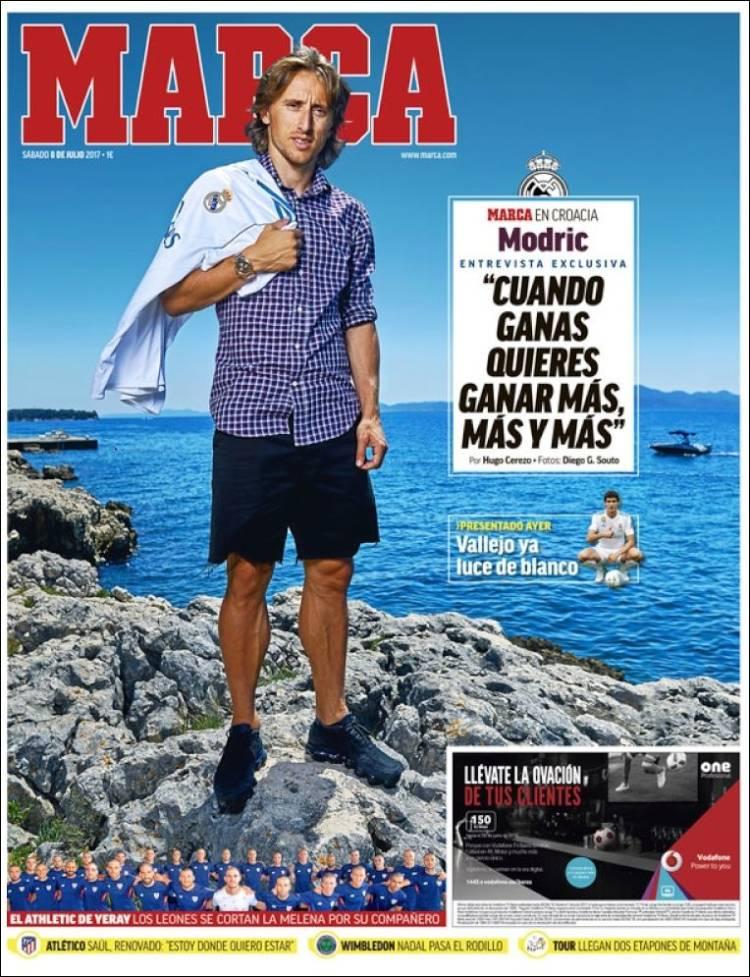 Marca Portada Modric 08.07.17