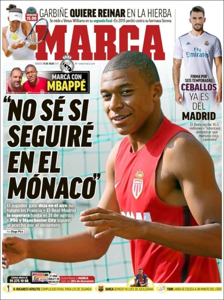 Marca Portada Mbappé 15.07.17