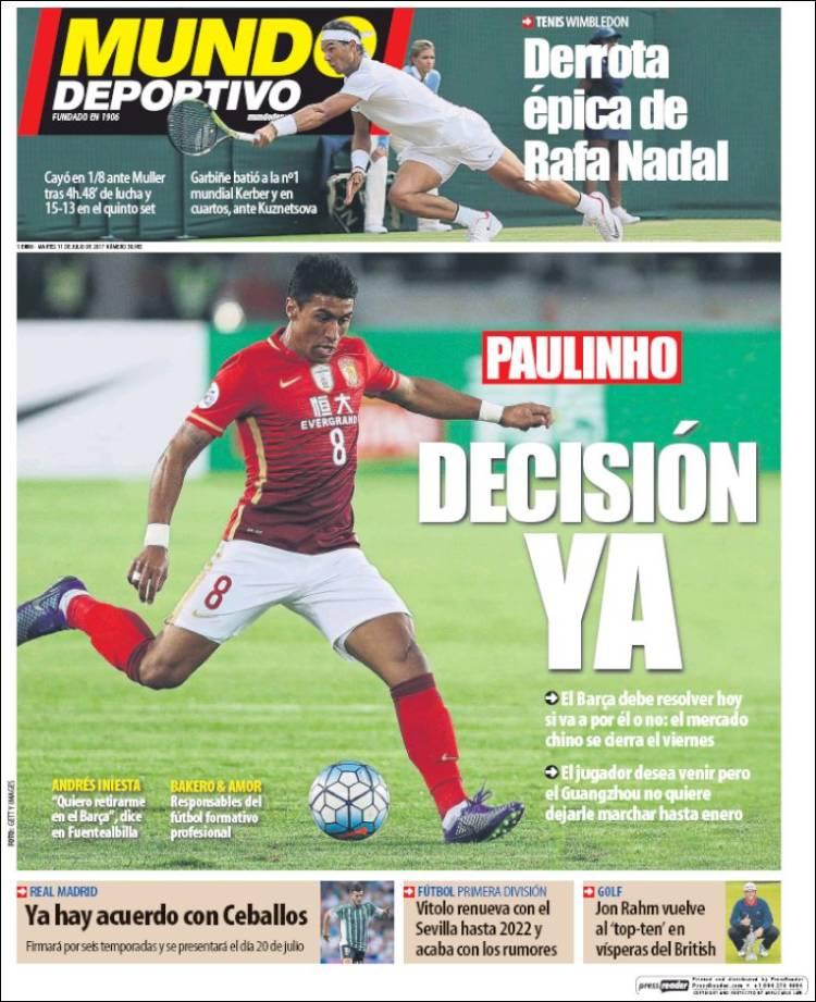Mundo Deportivo Portada Paulinho 11.07.07