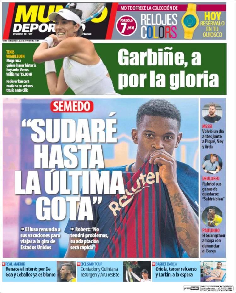 Mundo Deportivo Portada Semedo 15.07.17