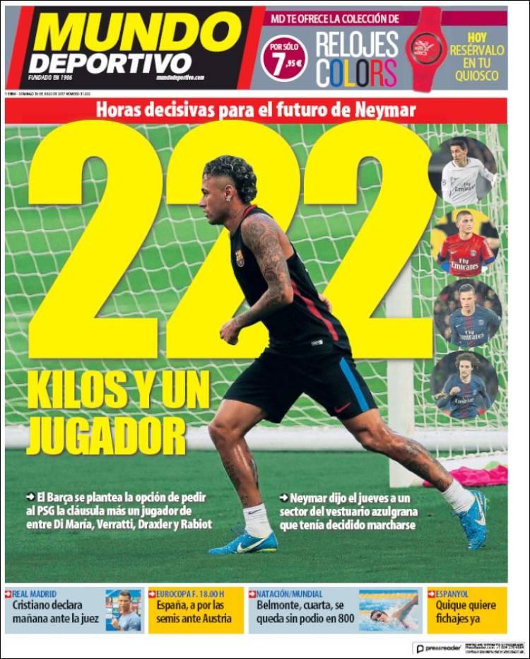 Mundo Deportivo Portada 222 30.07.17