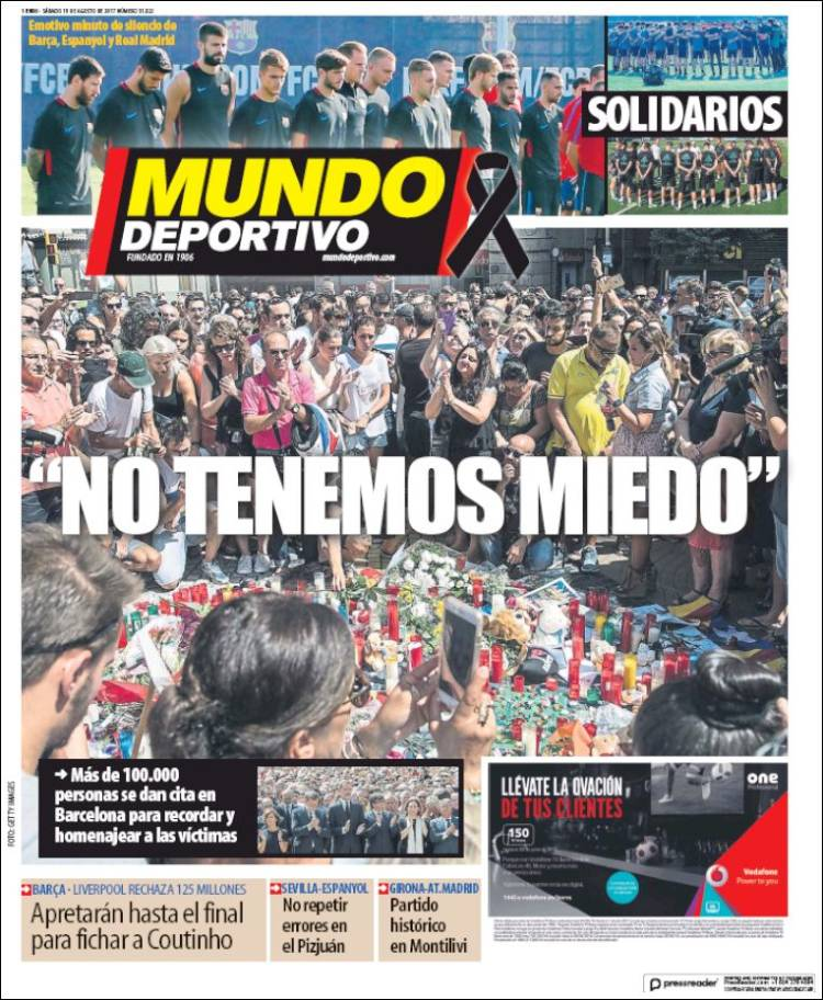 Mundo Deportivo Portada 19.08.17