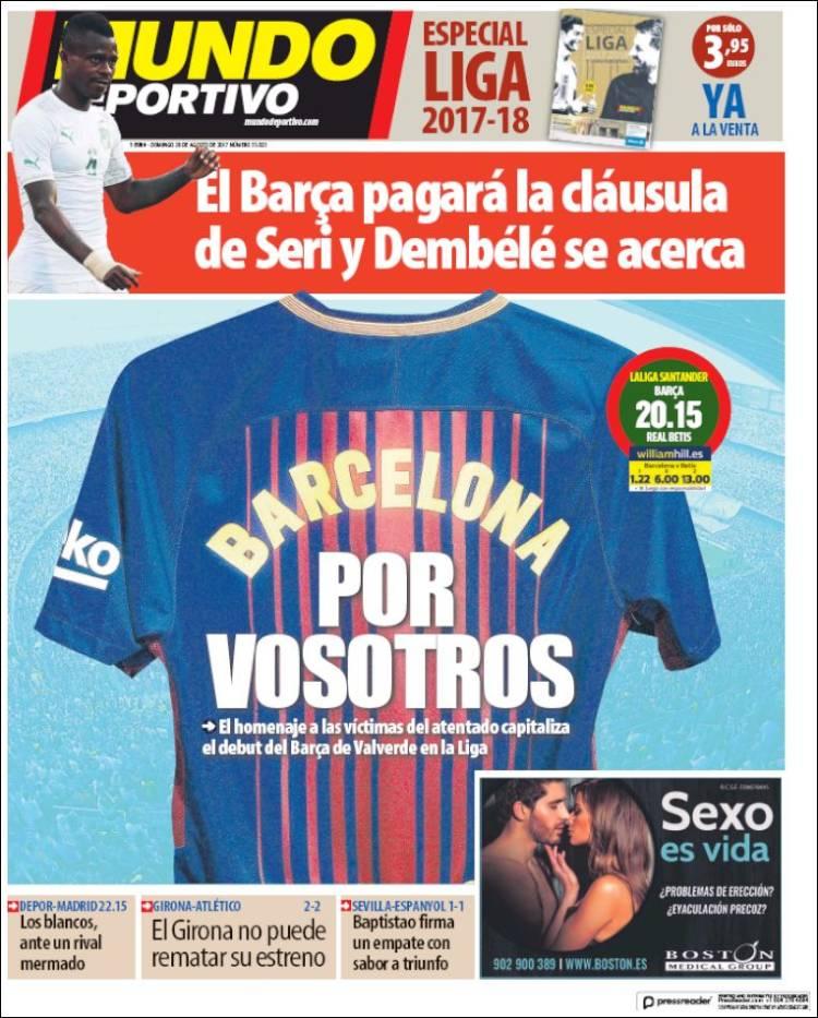 Mundo Deportivo Portada 20.08.17