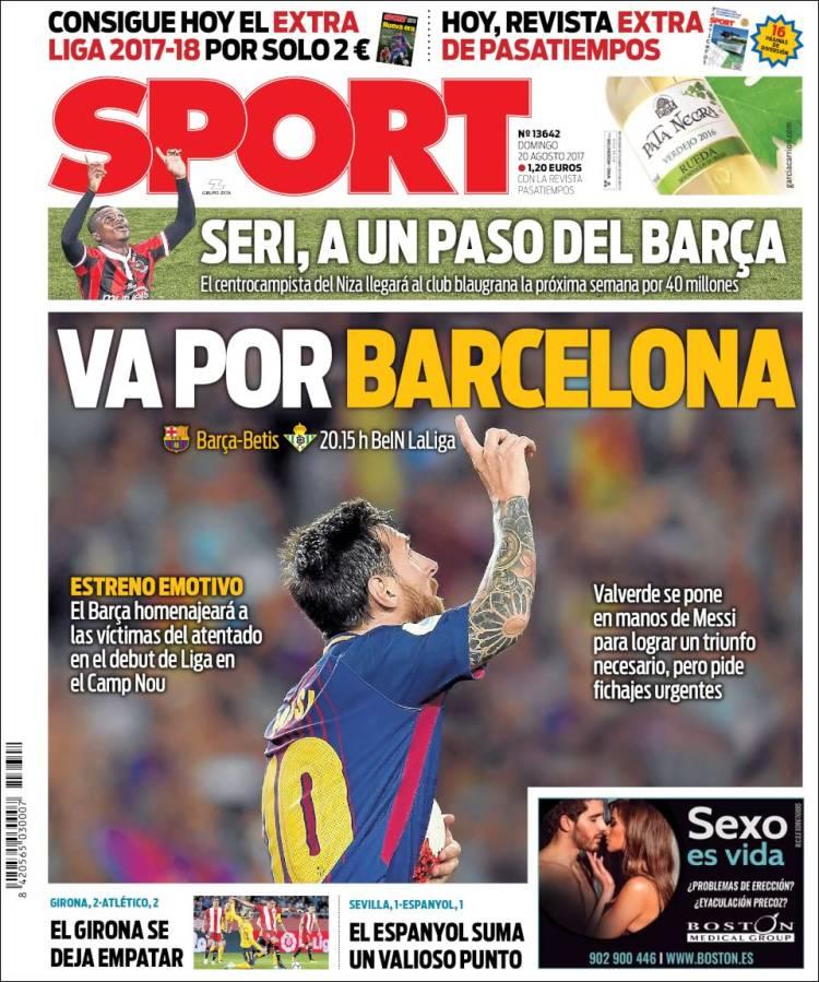 Sport Portada 20.08.17