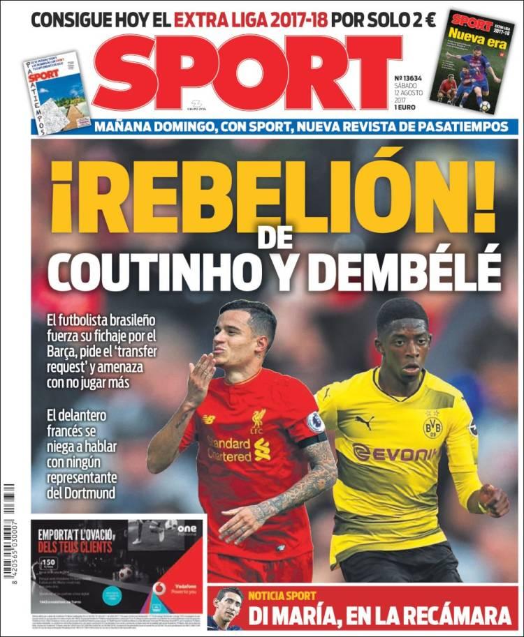 Sport Portada Rebelión 12.08.17