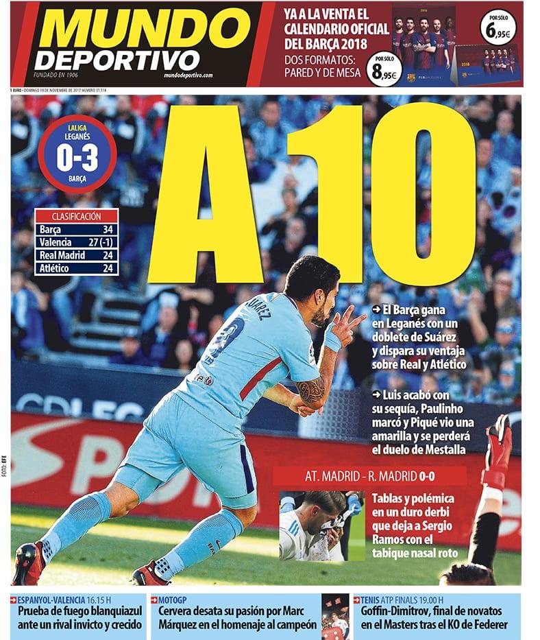 Mundo Deportivo Portada Derbi 19.11.17